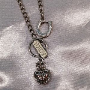 Juicy Couture Horseshoe Puffed Heart Necklace